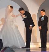 挙式した(左から)爆笑問題・太田光、太田光代社長 (C)ORICON NewS inc.