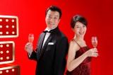 初タッグを組む(左から)加藤浩次、赤江珠緒アナ