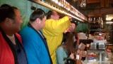 """『いきなり黄金伝説。激せま""""三ツ星""""店 力士とキツキツSP』3月5日放送(C)テレビ朝日"""