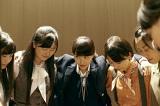 「タワーレコード渋谷店」展示衣装(ももいろクローバーZ主演映画『幕が上がる』より)