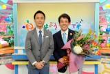 (左から)岩本計介アナ、『おはよう朝日です』を卒業した浦川泰幸アナ (C)ABC