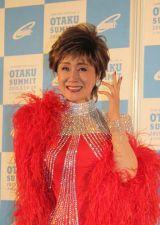 「OTAKU SUMMIT SPECIAL LIVE」開演前にマスコミ取材に応じた小林幸子 (C)oricon ME inc.