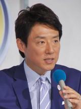 「世界フィギュアスケート国別対抗戦2015」記者会見に出席した松岡修造 (C)ORICON NewS inc.