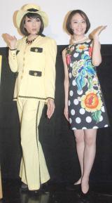 映画「パレードへようこそ」トークイベントに登場した(左から)ブルボンヌ、東小雪 (C)ORICON NewS inc.
