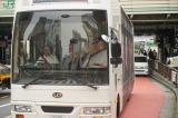 ラッピングバスに乗ってマツコロイドが渋谷にやってきた!