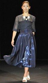 初開催された大人女性向けビューティーイベント『東京ミュゼ』ファッションショー 【TARA JARMON stage】野沢和香 写真:鈴木かずなり)