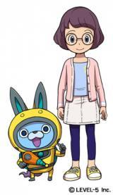 Dream5の重本ことりがアニメ『妖怪ウォッチ』セカンドシーズンに登場する妖怪・USAピョン役(左)で声優デビュー もう一人の主人公となるイナホ(右)は悠木碧が担当する