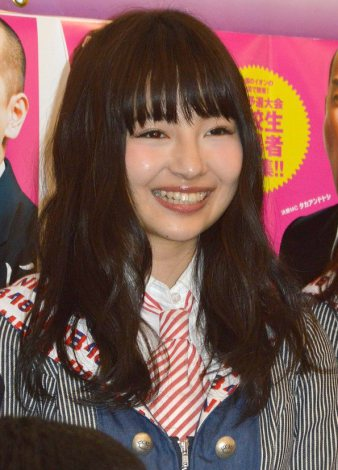 『ハイスクールマンザイ2015〜H-1 甲子園〜』開催発表会見にゲストで登場したNMB48・村瀬紗英 (C)ORICON NewS inc.