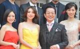 映画にちなんだ衣装で登場した(左から)安達祐実、田中麗奈、水谷豊、吹石一恵 (C)ORICON NewS inc.