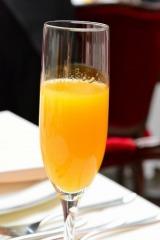4月14日の「オレンジデー」を記念し行われたイベント「シトラス レストラン present by Sunkist」で振る舞われたドリンク(C)oricon ME inc.