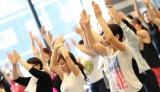 早朝イベント『Asagirl+』に約200人の女子が集結、朝から気持ちよくエクササイズ!