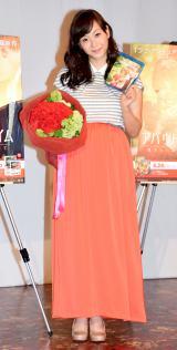 『アバウト・タイム〜愛おしい時間について〜』のブルーレイ&DVDリリース記念イベントに出席した藤本美貴 (C)ORICON NewS inc.