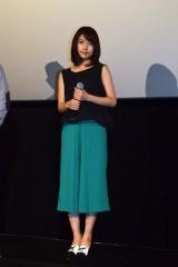 東京・TOHOシネマズ渋谷で主演映画『ビリギャル』の舞台あいさつに登壇した有村架純 (C)ORICON NewS inc.
