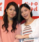 母娘でCM初共演を果たした(左から)松井ユミ子さん、松井珠理奈(C)ORICON NewS inc.