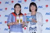 JOC・P&Gファミリープロジェクト第4弾『ママと選手の絆トークショー』に出席した女子レスリングの吉田沙保里選手と実母の幸代さん (C)oricon ME inc.