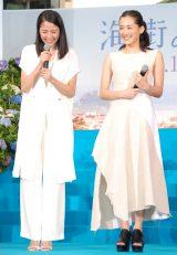 映画『海街diary』完成披露イベントに出席した(左から)長澤まさみ、綾瀬はるか (C)ORICON NewS inc.
