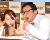 『NESCAFE Smart Lifeトークショー』に出席した(左から)愛加あゆ、チャンカワイ(C)ORICON NewS inc.