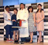 『NESCAFE Smart Lifeトークショー』に出席した(左から)チャンカワイ、AKINA、落合務シェフ、松本明子、愛加あゆ(C)ORICON NewS inc.