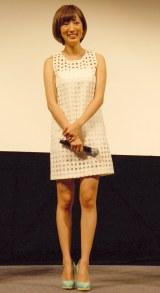映画『鏡の中の笑顔たち』の完成披露試写会に出席した夏菜 (C)ORICON NewS inc.