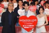 映画『イニシエーション・ラブ』の試写会イベントに出席した(左から)堤幸彦監督、松田翔太、前田敦子 (C)ORICON NewS inc.
