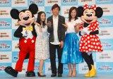(左から)ミッキー、関根麻里、織田信成、華原朋美、ミニー (C)ORICON NewS inc.