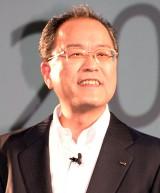 『au発表会 2015 summer』に出席した田中孝司社長 (C)ORICON NewS inc.
