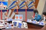 5月21日放送の『LIFE!〜人生に捧げるコント〜』で田原総一朗が『朝まで生テレビ!』のセルフパロディに挑戦(C)NHK