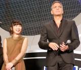 映画『トゥモローランド』ジャパンプレミアに出席した(左から)志田未来、ジョージ・クルーニー(C)ORICON NewS inc.