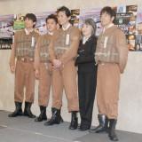 (左から)なだぎ武、井戸田潤、今井雅之、奈良橋陽子、陣内智則 (C)ORICON NewS inc.