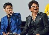 映画『Zアイランド』の初日舞台あいさつに出席した主演の哀川翔(右)と品川ヒロシ監督 (C)ORICON NewS inc.