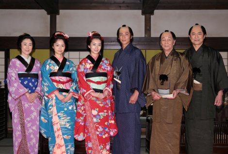 次期連続テレビ小説『あさが来た』NHK大阪放送局のスタジオで収録が本格スタート(C)NHK