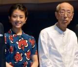 音楽劇『青い種子は太陽のなかにある』製作発表に出席した(左から)高畑充希、蜷川幸雄氏(C)ORICON NewS inc.