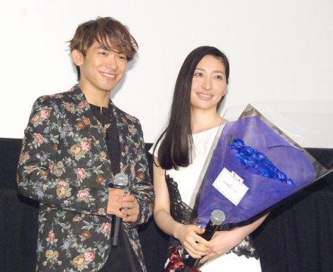 映画『攻殻機動隊 新劇場版』の完成披露上映会に出席した(左から)NAOTO、坂本真綾 (C)ORICON NewS inc.