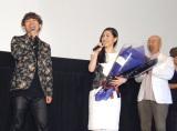 映画『攻殻機動隊 新劇場版』の完成披露上映会に出席した(左から)NAOTO、坂本真綾、塾一久 (C)ORICON NewS inc.