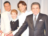 『日本作詩家協会』の50周年祝賀会に出席した(左から)喜多條忠会長、水前寺清子、氷川きよし、鳥羽一郎 (C)ORICON NewS inc.