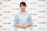 『AKB48のオールナイトニッポン』生放送前に囲み取材に応じた松井玲奈