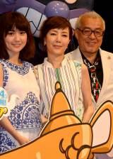 映画『それいけ!アンパンマン ミージャと魔法のランプ』完成披露親子試写会に出席した(左から)大島優子、戸田恵子、中尾隆聖 (C)ORICON NewS inc.