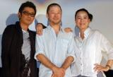 映画『あん』大ヒット御礼トークイベントに出席した(左から)永瀬正敏、浅野忠信、河瀬直美監督(C)ORICON NewS inc.