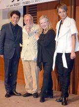 (左から)市村正親、ハロルド・プリンス氏、スーザン・ストローマン、柚希礼音 (C)ORICON NewS inc.