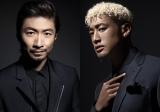 (左から)『太鼓の達人』15周年タイアップアーティストのEXILE・MAKIDAI、関口メンディー