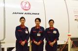 訓練施設を案内してくれた(左から)竹島智江さん、香月瞳さん、石井啓子さん (C)oricon ME inc.