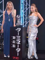 映画『ターミネーター:新起動/ジェニシス』のジャパンプレミアに登場した(左から)GENKING、今井華 (C)ORICON NewS inc.