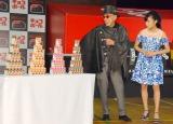 森永製菓『新・おもちゃのカンヅメ』お披露目イベントに出席した(左から)小島瑠璃子、テリー伊藤 (C)ORICON NewS inc.