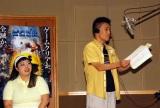 映画『ピクセル』日本語吹き替え版公開アフレコに出席した(左から)渡辺直美、柳沢慎吾(C)ORICON NewS inc.