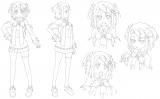 ドロシー(CV:佐倉綾音)の線画(C)Project D.backup