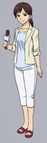 劇場アニメで登場する狩野恵里アナのキャラ設定画