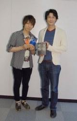 (左から)声優の羽多野渉、『天地明察』の作者・冲方丁氏 (C)ORICON NewS inc.