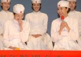 BSテレビ60周年特別企画2夜連続スペシャルドラマ『レッドクロス〜女たちの赤紙〜』制作発表に出席した(左から)高梨臨、松嶋菜々子 (C)ORICON NewS inc.