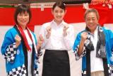 早見あかり(中央)が主人公を演じるドラマで親子共演を果たした(左から)水町レイコ、北島三郎 (C)ORICON NewS inc.