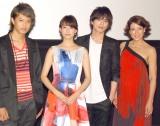 映画『東京PRウーマン』完成披露舞台あいさつに出席した(左から)井上正大、山本美月、山本裕典、LiLiCo (C)ORICON NewS inc.